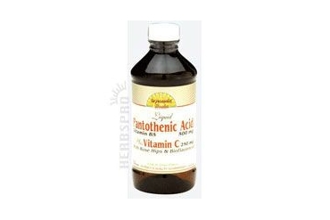 Pantothenic Acid Liquid Vitamin C Rosehips 8 Oz