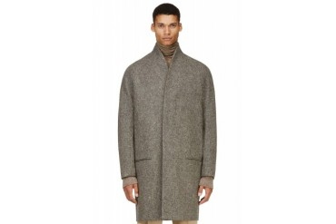 Haider Ackermann Grey Minimalist Wool Coat