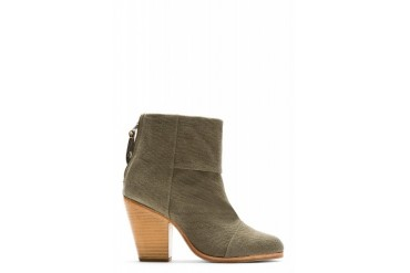 Rag And Bone Olive Drab Canvas Classic Newbury Ankle Boots