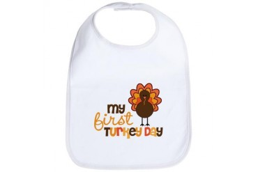 My First Turkey Day Bib