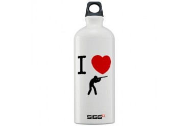 Shooting Funny Sigg Water Bottle 1.0L by CafePress