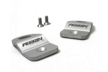 Perrin Performance Radiator Bracket Kit Silver Subaru STI 02-07