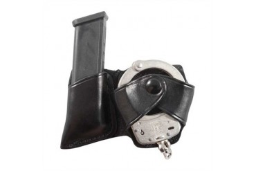 Alessi Cuff Case W/ Double Stack Magazine Holders - Cuff Case W/Glock Double Stack Mag Holder Black