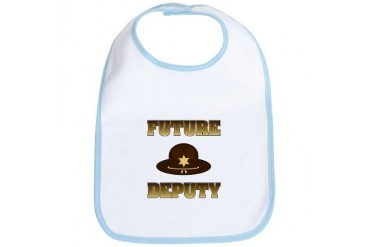 Future Deputy Baby Bib by CafePress