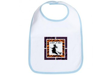 WANT A RIDE? Halloween Bib by CafePress