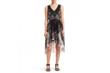 Chiffon Patterned Dress