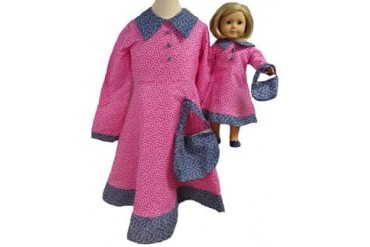 Matching Girl And Doll Clothes Prairie Dress Rose Size 6