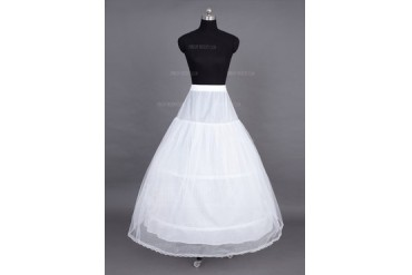 Women Tulle Netting Floor-length 2 Tiers Petticoats (037023563)