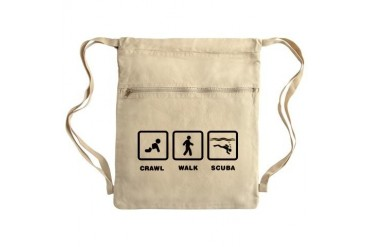 Scuba Diving Sack Pack Funny Cinch Sack by CafePress
