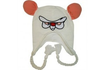 Pinky and the Brain Brain Head Lapland Tasseled Embroidered Beanie