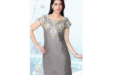 W Grey Decorative Printed Kurti