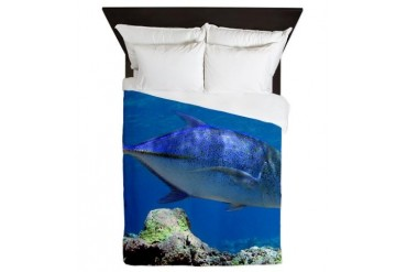 Bluefin Trevally Animals Queen Duvet by CafePress