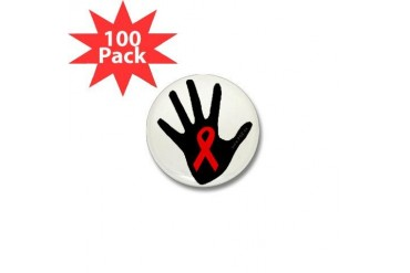 POZ Mini Buttonz 100 pack Aids Mini Button 100 pack by CafePress