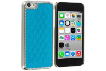 Apple iPhone 5C Metal Quilted Hard Soft Case Cover