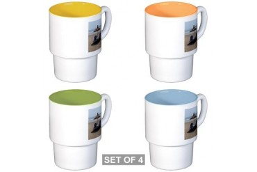 Moroccan Beach Beach Stackable Mug Set 4 mugs by CafePress