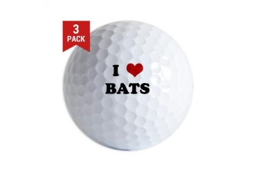 BATS.png Funny Golf Balls by CafePress