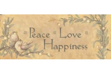 Peace Love Happiness Poster Print by Stephanie Marrott (24 x 48)