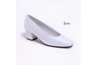 "Dyeables ""In Stock"" White Lux Bridal Shoe June"