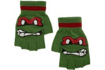 Teenage Mutant Ninja Turtles Raphael Face Fingerless Gloves