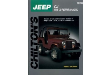 1959-1970 Jeep CJ5 Manual Chilton Jeep Manual 40200 59 60 61 62 63 64 65 66 67 68 69 70