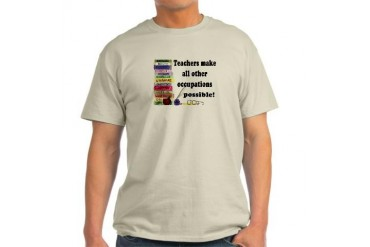 "Teacher Occupations"" Ash Grey T-Shirt"