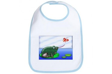 Frog and Bug in a Pond Cute Bib by CafePress