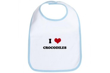 CROCODILES.png Funny Bib by CafePress
