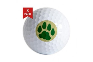 Cat Track Cat Golf Balls by CafePress