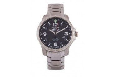Sector SECTOR BLACK EAGLE 42MM 3H BLACK DIAL/BRACC Watch