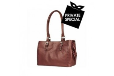 Metallic Burgundy Stitched Soft Leather Satchel Bag