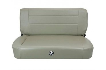 Corbeau Safari Rear Bench Seat in Gray Vinyl 60090 Seat