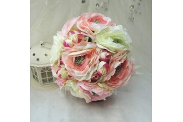 Nice Hand-tied Cloth Bridesmaid Bouquets (123047072)