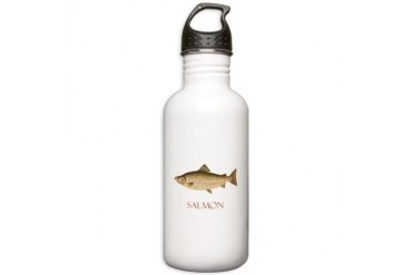 Salmon Fishing Stainless Water Bottle 1.0L by CafePress