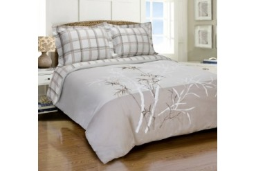 Elmwood Duvet Cover Set With Shams, 100% Long-Staple Cotton,