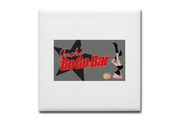 JacksFront2j.jpg Cupsreviewcomplete Tile Coaster by CafePress
