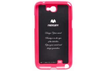 Mercury Case Color Pearl Jelly Case Galaxy Note 2 [Hot Pink]