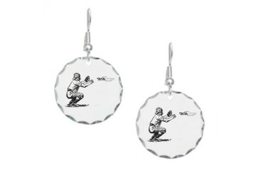 Catch 22 Funny Earring Circle Charm by CafePress