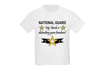 Army National Guard Uncle Kids T-Shirt