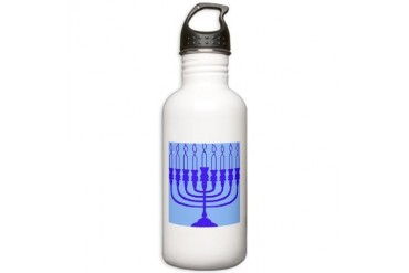 Hanukkah Gifts Jewish Stainless Water Bottle 1.0L by CafePress