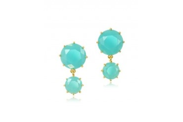 La Diamantine Turquoise Drop Earrings