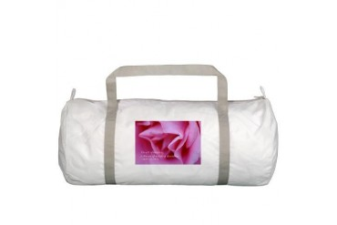 Pink Rose Quote Gym Bag by CafePress