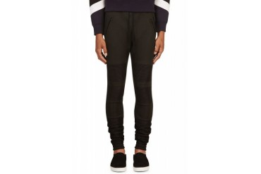 En Noir Black Ribbed Lounge Pants