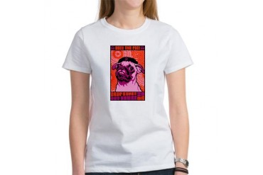 Drop Bones Not Bombs!- Pug Women's T-Shirt