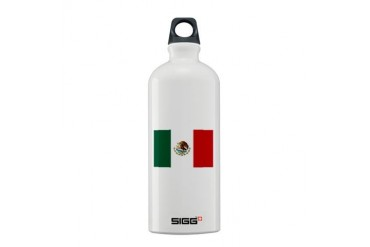 Mexico flag Mexico Sigg Water Bottle 0.6L by CafePress