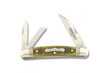 Northfield Courthouse Whittler with Spring Green Jigged Bone Handle