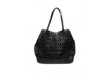 Imoshion Perforated Scalloped Tote Bag Black