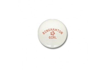 Binghamton Pink Girl New york Mini Button by CafePress