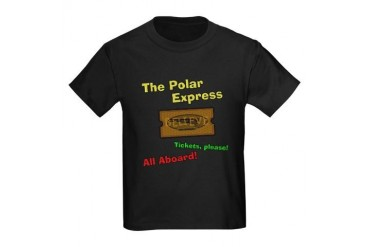 Polar Express Ticket Kids Dark T-Shirt