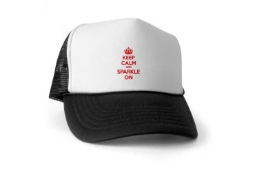 Keep calm and sparkle on Twilight Trucker Hat by CafePress