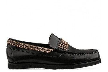 Caminando Studs Loafer Mens in Black Brush Off size 12.0